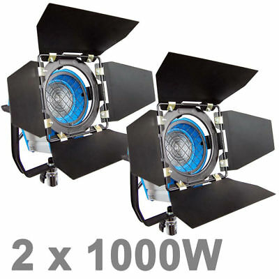 2PCS 1000W As ARRI Fresnel Tungsten Spotlight Lighting Video Photography US