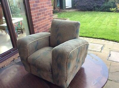 Small 1930s childs Art Deco armchair,