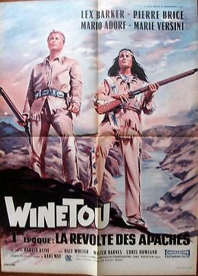 Karl May Fave Lex Barker Original Apache Gold Western French Film Poster