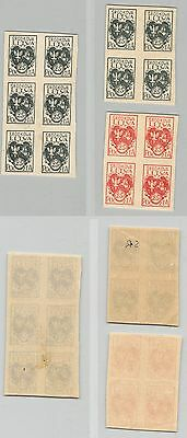 Central Lithuania, 1920, SC 1, 2, MNH, blocks of 4. c9220