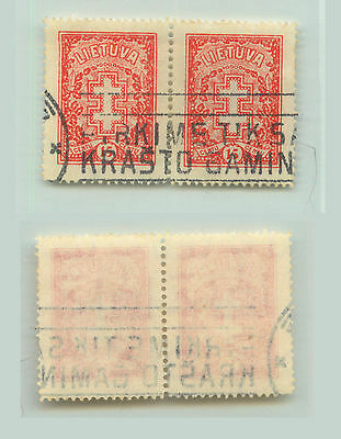 Lithuania, 1933, SC 278, used, wmk 238, pair. rt9206