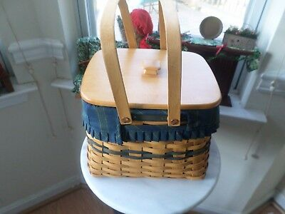 Longaberger Collectors Club Harbor Basket Combo-Very Nice