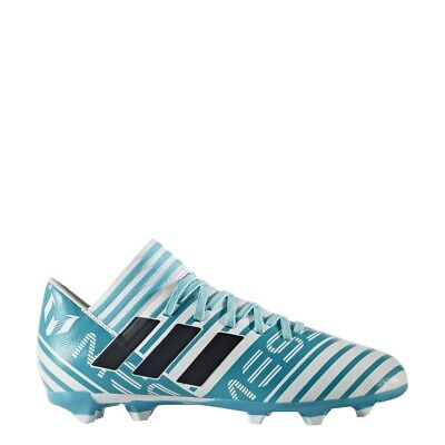 adidas Boys Nemeziz Messi 17.3 FG J Cleats (White/Legend Ink/Energy Blue)BY2411