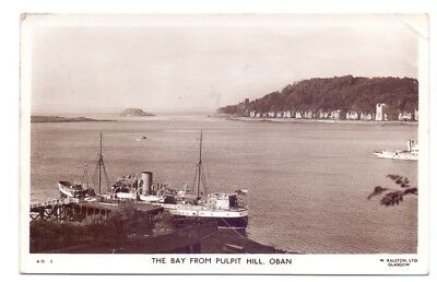 The Bay from Pulpit Hill,Oban,publisher,W.Ralston           (AP9)