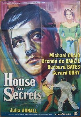 Michael Craig Barbara Bates House Of Secrets Original Uk Rank Films One Sheet