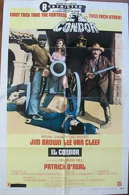 Lee Van Cleef Jim Brown El Condor Spaghetti Western Style B U.s. One Sheet