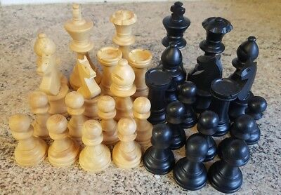 nice vintage boxed chess peices