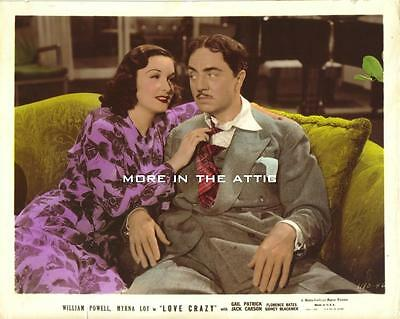 William Powell Of Thin Man Fame With Gail Patrick Orig Love Crazy Mgm Film Still