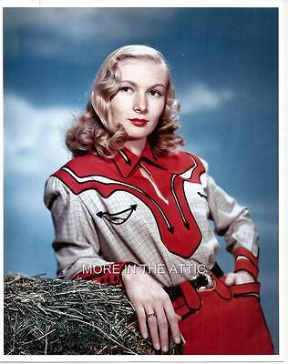 Paramount Pictures Pretty Veronica Lake Gorgeous Color Cowgirl Portrait