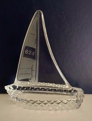 Galway Crystal Glass Sailing Yacht / Boat 624