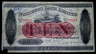 Ireland Northern Bank Limited 1937 10 Pound Note.