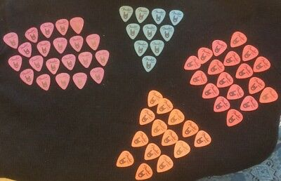 Fender 351 Rock-On Guitar Picks, ORANGE, PURPLE, RED, BLUE Mixed Lot