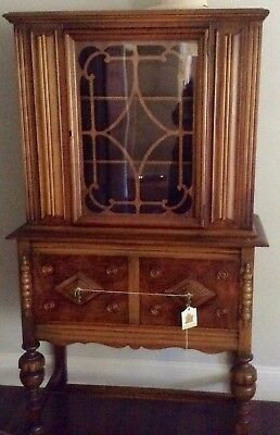 Vintage Maple China Cabinet