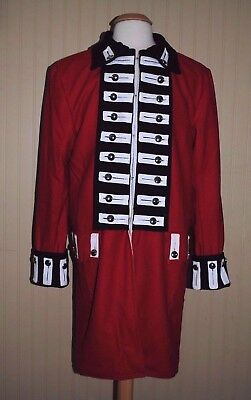 Revolutionary War British Army Frock Red w/Black Facings - Size 48 - Top Quality