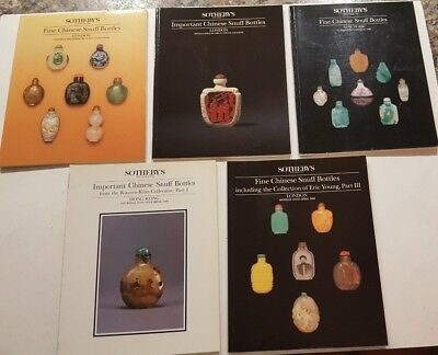 Lot/5 Fine/Important CHINESE SNUFF BOTTLES Auction Catalogues 1988,1989