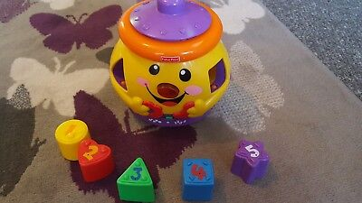 Fisher Price Laugh & Learn Surprise Cookie Jar Shape Sorter Baby Pre School Toy