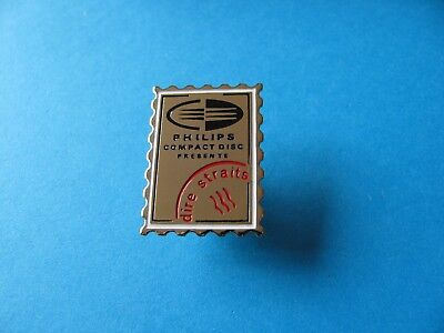 Vintage Philips Compact Disc Presents DIRE STRAITS Pin Badge. VGC
