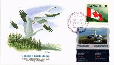 Dr Jim Stamps Canada Duck Stamp Combination Fleetwood Cachet Cover 1989
