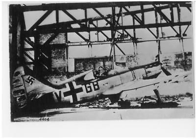 """Luftwaffe Fighter Aircraft """"V+GB"""" Real Photograph"""