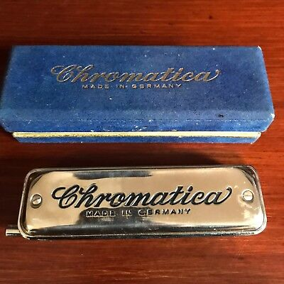 Vintage Chromatica Harmonica Made in Germany in Box