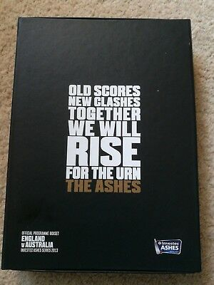 Rare box set Ashes 2013 5 Programmes. Each test. Excellent condition