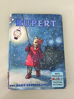 RUPERT ANNUAL 1960 UNCLIPPED / magic paintings filled in but no scribbles