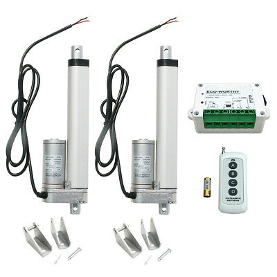 2 Pieces 6 in 12V Multi-function Linear Actuator Remote Control for Lift Table