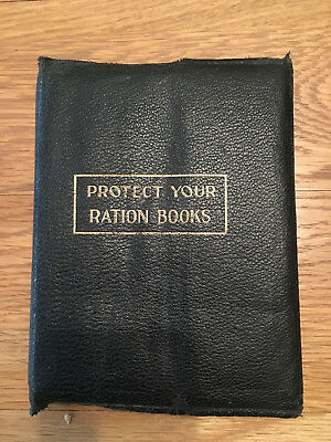 Original Family Food & General Ration Books And Wallet 1951 - 1954 Lovely Used
