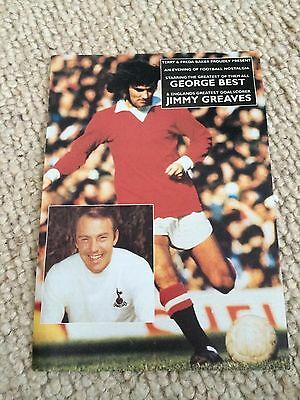 GEORGE BEST & JIMMY GREAVES, AN EVENING WITH FLYER Inc DATES & LOCATIONS..RARE !