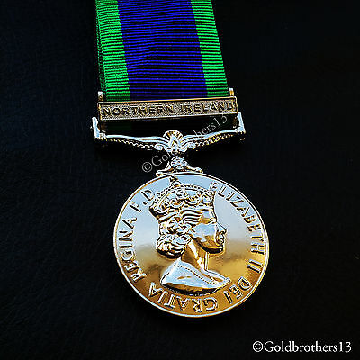The General Service Medal Northern Ireland Medal 1962 Campaign service Repro.