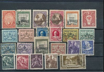 VATICAN Earlies MH Used (20+ Stamps)  AG1008s