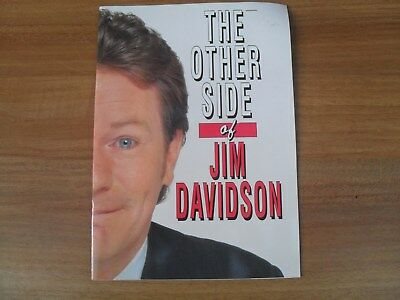 JIM DAVIDSON - 1990's theatre programme THE OTHER SIDE OF JIM DAVIDSON