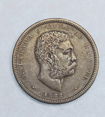 1883 KINGDOM OF HAWAII King KaIakaua Silver Half Dollar EXTRA FINE 50c