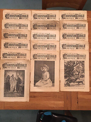 16 Christian Herald & Signs Of Out Times Magazine 1931 1932 1934 Queen Elizabeth