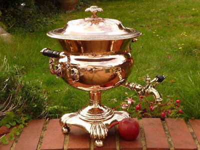Superb Regency Georgian Antique Copper English Samovar
