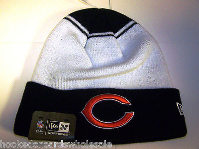 44ebfd761af ... low price chicago bears nfl knit stocking skull cap hat new era white  ac3e4 68ffc
