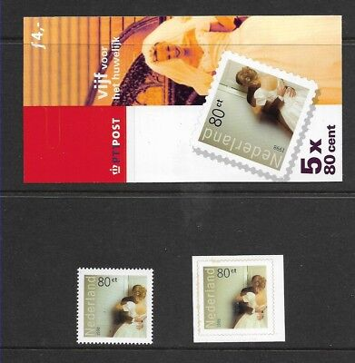 Netherlands 1998 Wedding booklet + stamps MNH