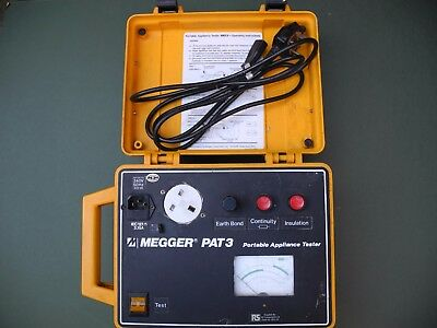 MEGGER PAT 3 Portable Appliance Tester Used Spares Repairs