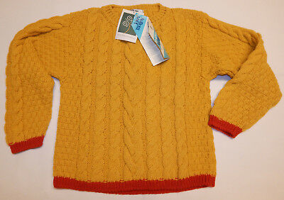 NWT Vintage John Molloy  Ireland Woolmark Sweater Youth L  see measurements