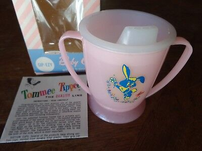 "Vintage ""Tommee Tippee Baby Cup in Original Box with Two Lids"" Never Used"