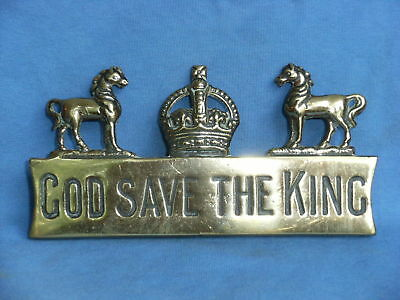 Horse Brass  Hame Plate God Save The King(2)