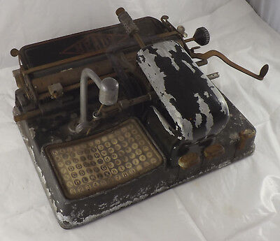 RARE 1920s 'HEADY' INDEX TYPEWRITER, FRENCH VERSION OF MIGNON, FOR RESTORATION