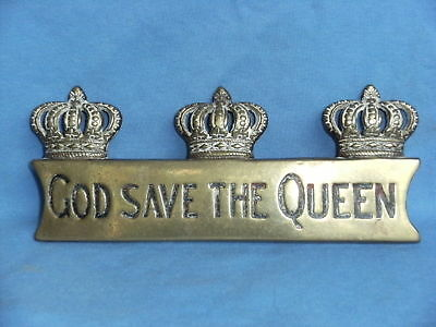 Horse Brass  Hame Plate God Save The Queen