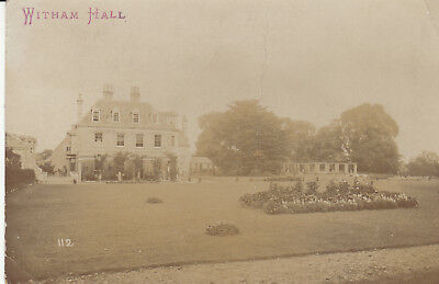 Rp P/c  Witham Hall, Witham On The Hill, Lincolnshire, 1907