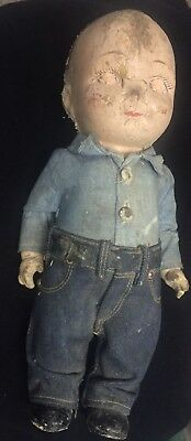 Antique Weathered Buddy Lee Doll Can't Bust E'm Halloween Edition Chucky Lee