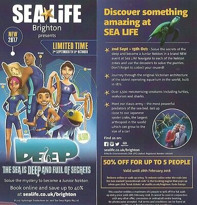 SEALIFE Brighton 50% Off Voucher for Family of Five (5) persons - New