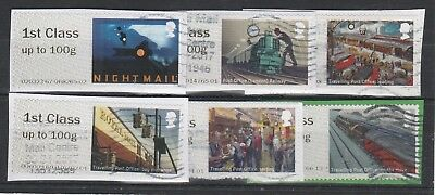 2017 Post And Go Mail By Rail Used Set.