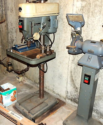"""Rockwell Heavy Duty Drill Press 15-665 4""""Quill 3/4Hp 230/460 Volts w/ Extras!"""