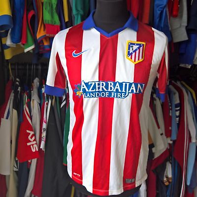 Atletico Madrid 2014 Home Football Shirt Nike Jersey Size Adult S