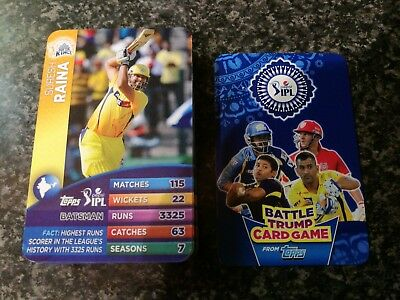 Rare full set of 64 Topps IPL battle trump cards